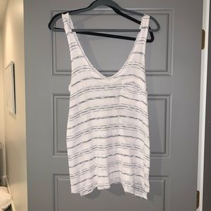 project social T striped tank